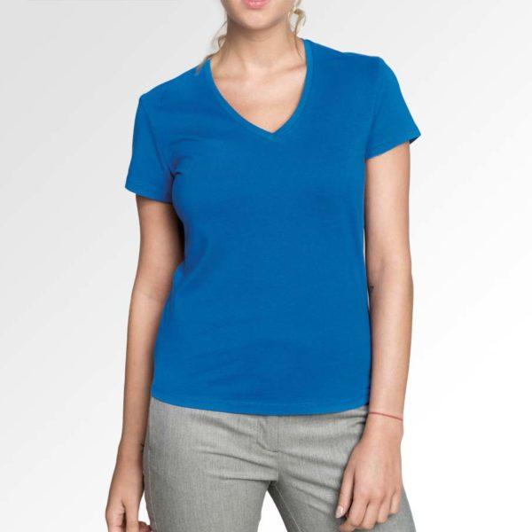 Hoogwaardig dames T-shirt met V-hals ontwerpen