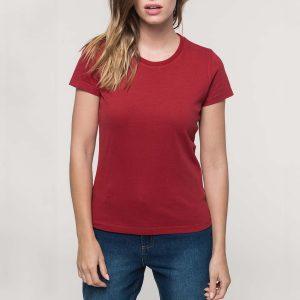 vintage dames shirt bedrukken rood