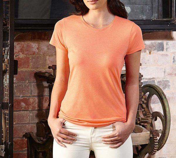 dames t shirt bedrukken oranje