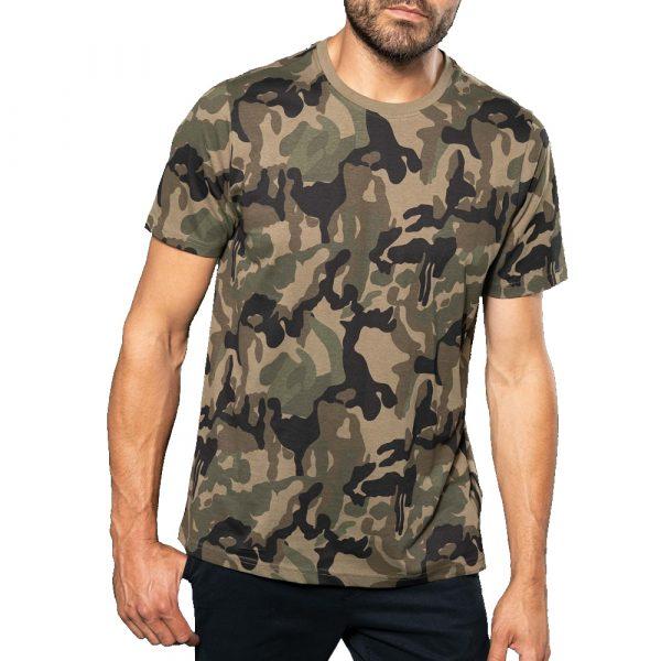 Camouflage t shirt ontwerpen en bedrukken