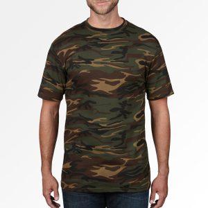camo T-shirt met eigen ontwerp