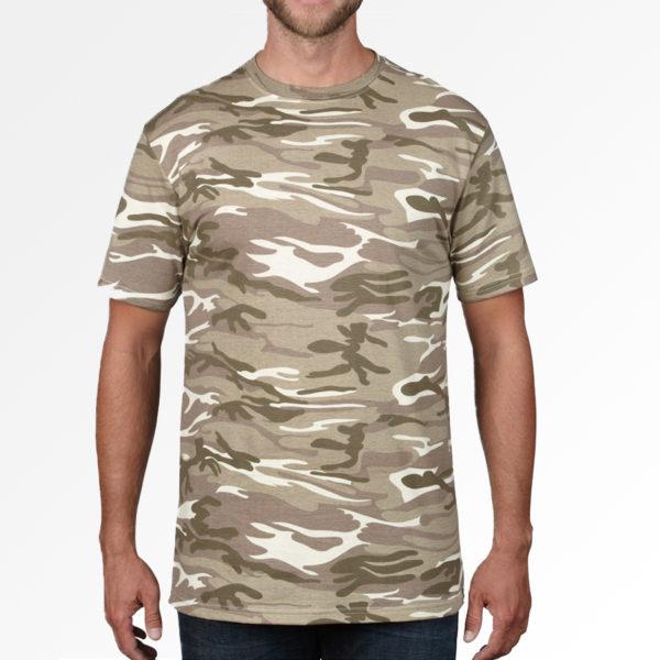 Bedrukt urban light camo T-shirt