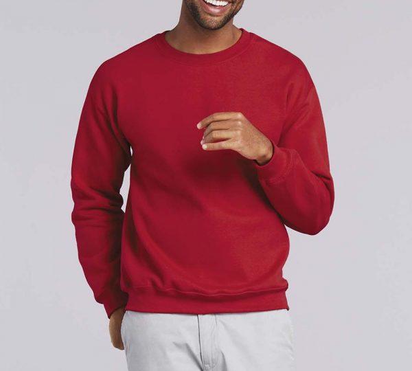 rode gildan sweater ontwerpen en bedrukken