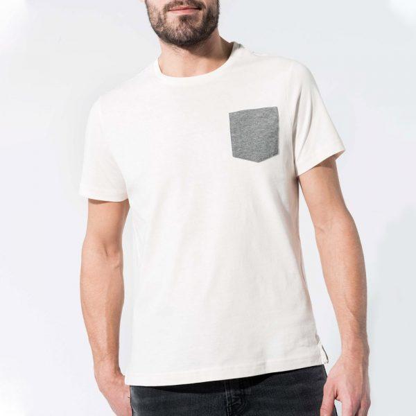 Heren pocket T-shirt ontwerpen en bedrukken