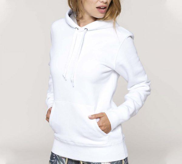 witte dames hoodie ontwerpen en bedrukken