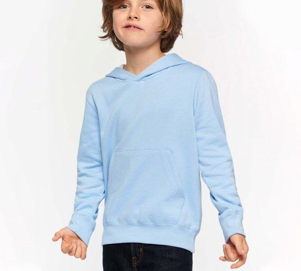 blauwe kinder hoodie ontwerpen en bedrukken