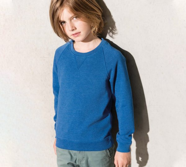 Biokatoen kindersweater ontwerpen en bedrukken