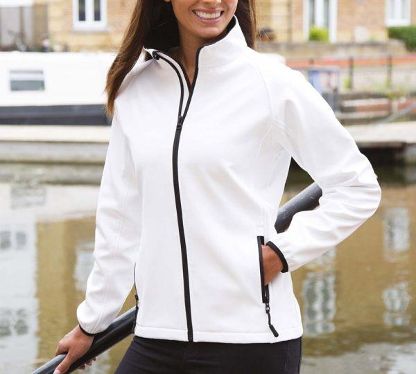 witte softshell jas ontwerpen en bedrukken